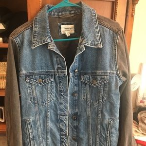 Forever 21 black and denim jacket